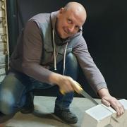 Укладка плитки в туалете, Игорь, 45 лет